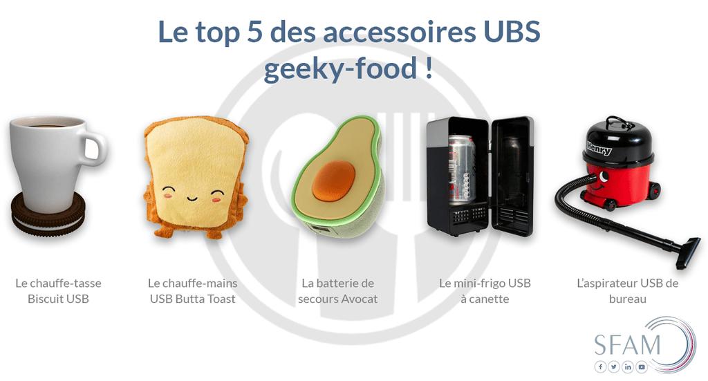 Top 5 accessoires USB food - Blog SFAM
