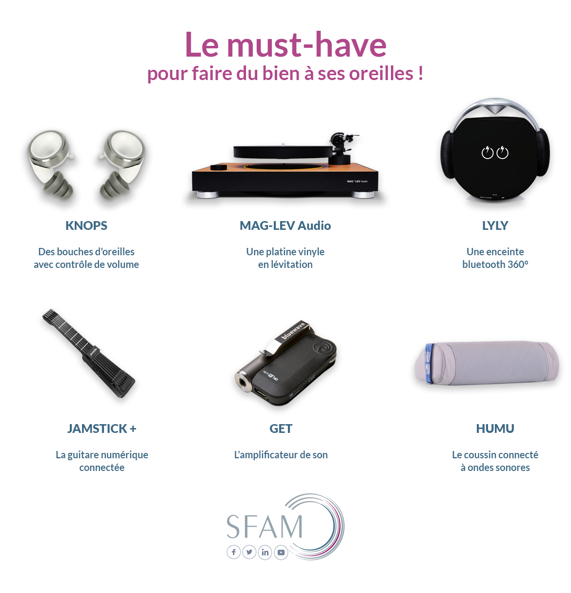 Must have audio infographie - Blog SFAM