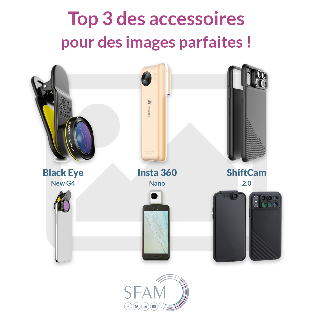 Accessoires photo vidéo smartphone - Blog SFAM