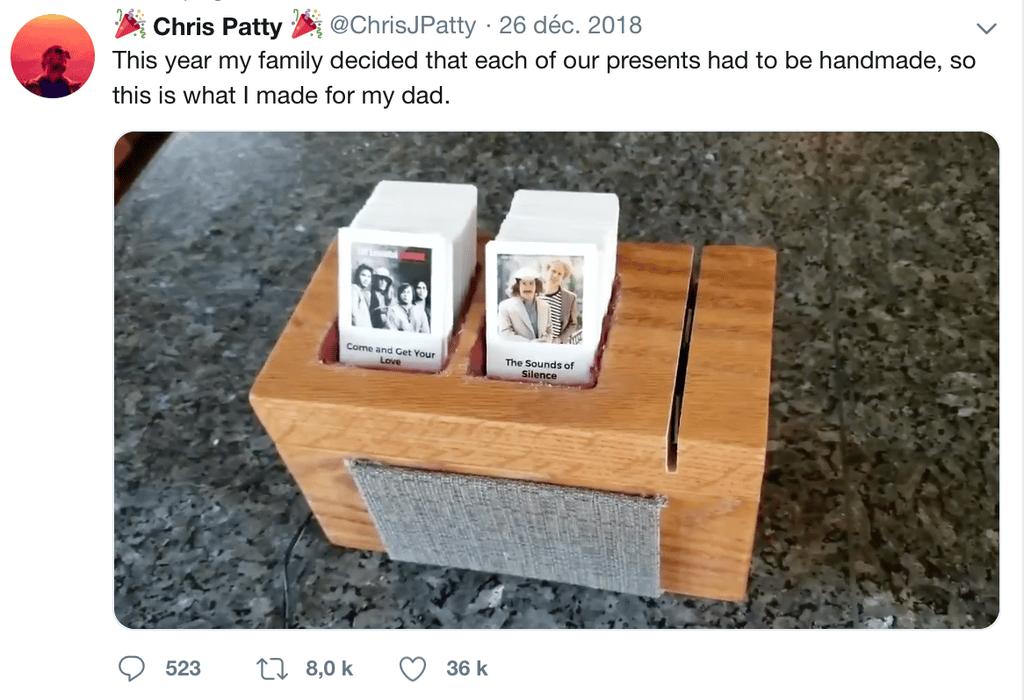 tweet Chris Patty mini juke box - Blog SFAM