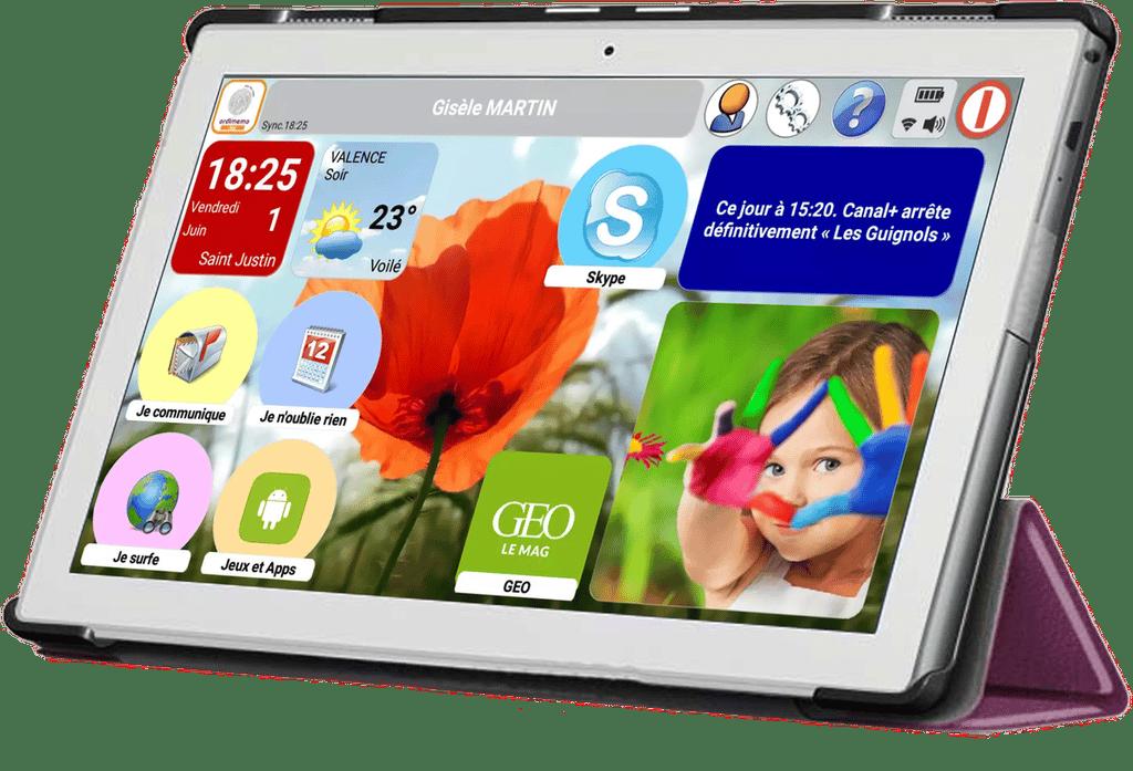 Tablette pour senior - Ordimemo TAB4 - blog SFAM