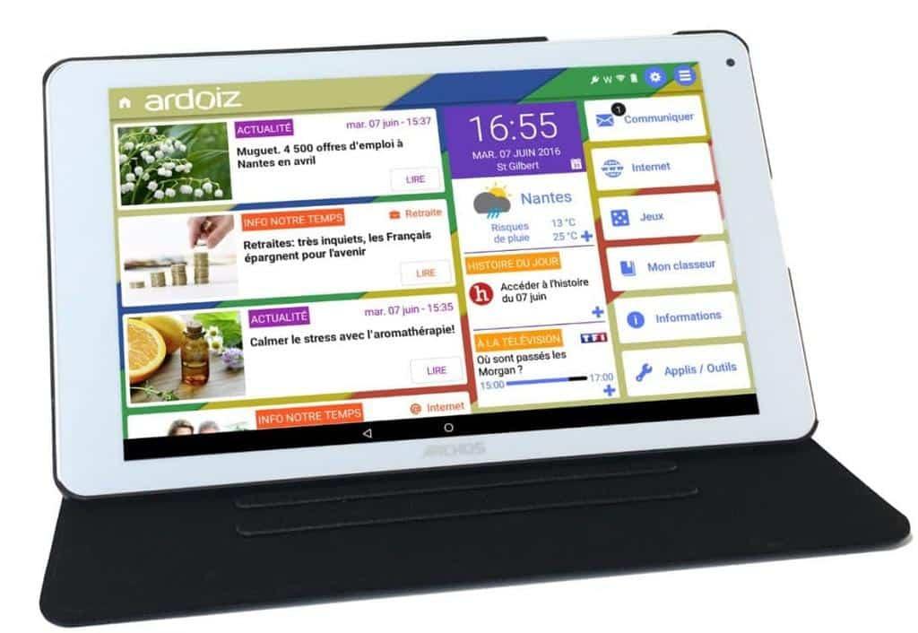 Tablette pour senior - Tablette Ardoiz - blog SFAM