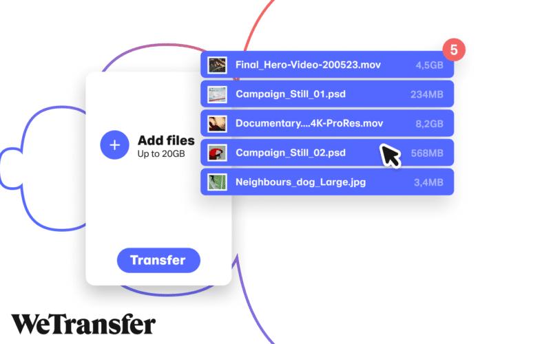 Compartir archivos pesados WeTransfer - Celside Magazine