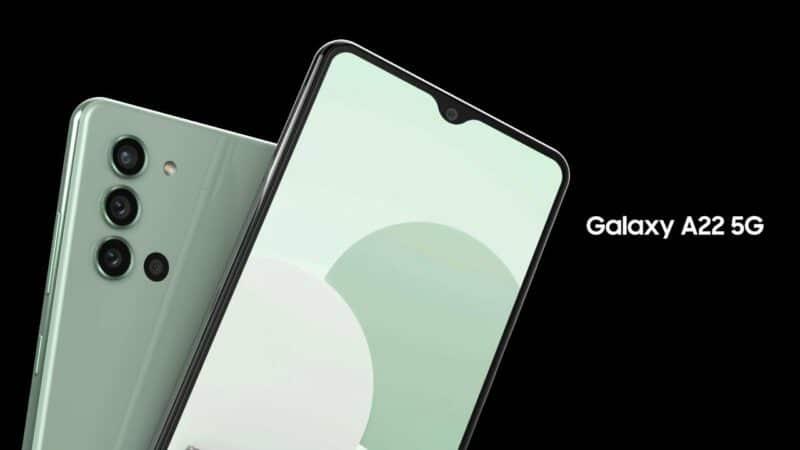 samsung galaxy a22 smartphone 5g tres bon marche - Celside Magazine