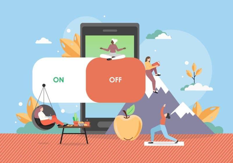 Desconexión dispositivos móviles veranos - Celside Magazine